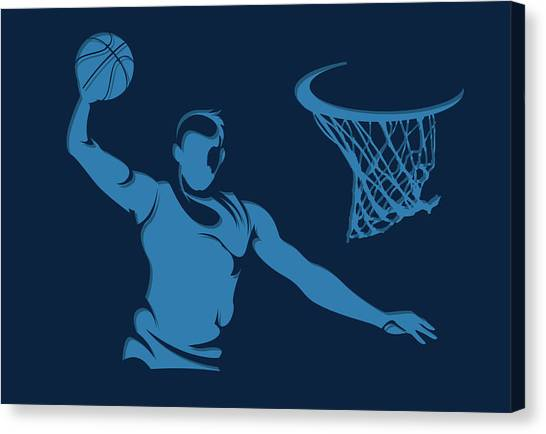 Memphis Grizzlies Canvas Print - Grizzlies Shadow Player1 by Joe Hamilton