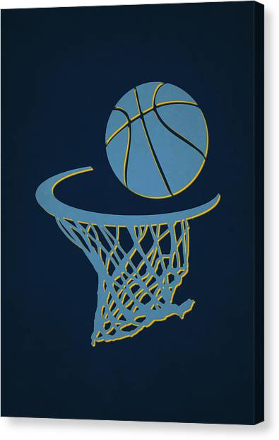 Memphis Grizzlies Canvas Print - Grizzlies Team Hoop2 by Joe Hamilton