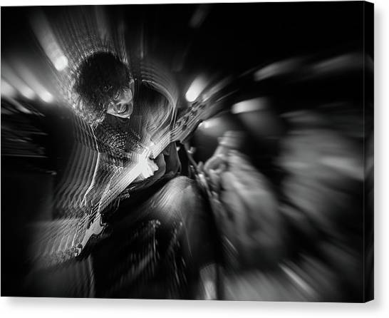 Energy Canvas Print - Groaning Bass by Kenji Nakamatsu