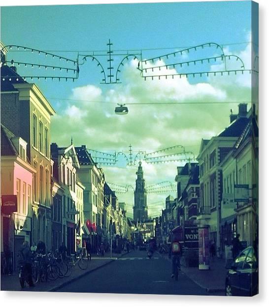 Martini Canvas Print - #groningen #netherlands #dutch #college by Chantal Vinke