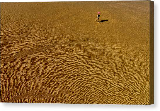 Vacation Canvas Print - Grooves by Jois Domont (