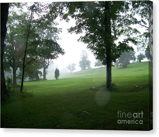 Grossinger Golf Course Rainy Day  Canvas Print by Kevin Croitz
