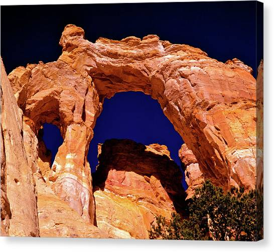 Grosvenor Arch Sunset Kodachrome Basin Canvas Print