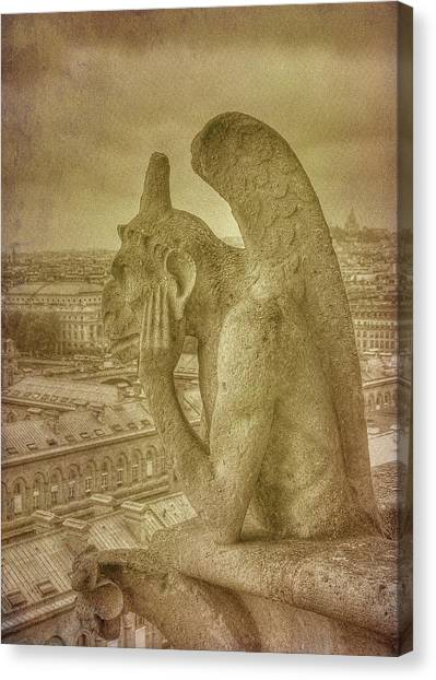 Grotesque From Notre Dame Canvas Print