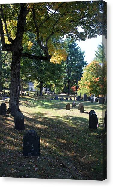 Groton Cemetery 1 Canvas Print by Mary Bedy