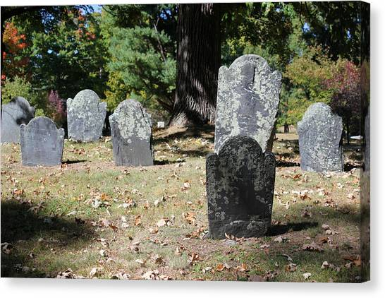 Groton Cemetery 5 Canvas Print by Mary Bedy