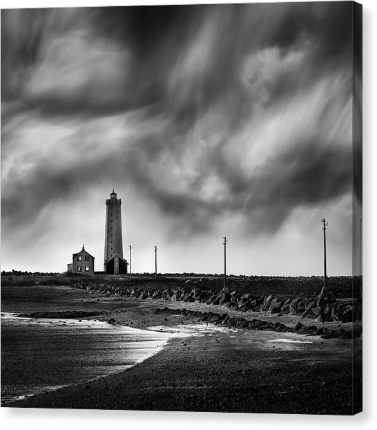 Maritime Canvas Print - Grotta Lighthouse by George Digalakis