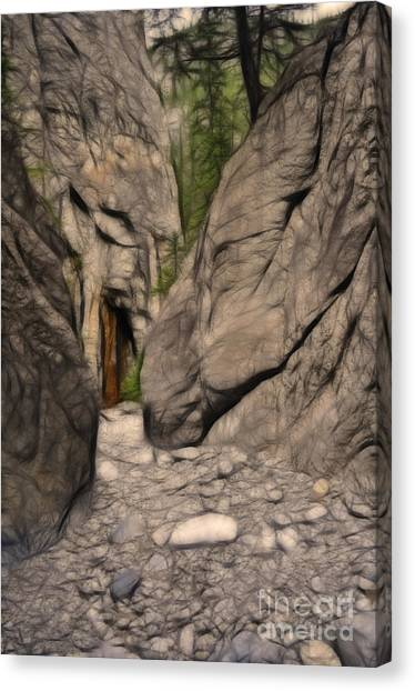 Grotto Canyon Fractal Canvas Print