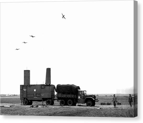 Air Traffic Control Canvas Print - Ground-control Approach Radar On Airfield by Nara/science Photo Library