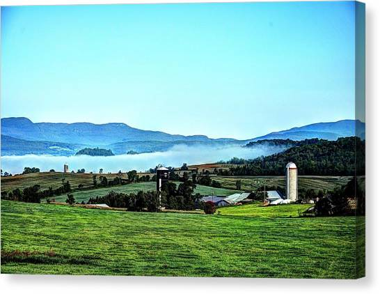 Groundfog Silos Canvas Print