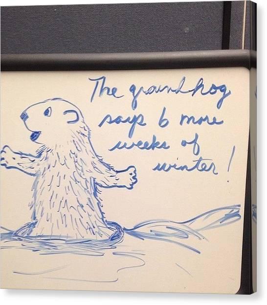 Groundhogs Canvas Print - #groundhog #artistic #artist #winter by Keenan Zimmerman