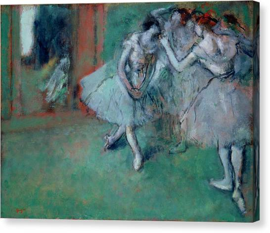 Edgar Degas Canvas Print - Group Of Dancers by Edgar Degas