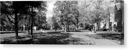 Indiana Autumn Canvas Print - Group Of People At A University Campus by Panoramic Images