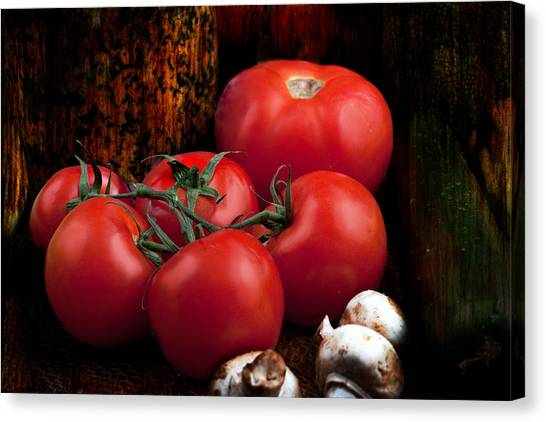 Group Of Vegetables Canvas Print