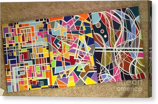 Groupe Of Three Canvas Print