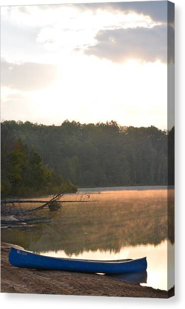 Grousehaven Lake - Rifle River State Park Canvas Print by Jennifer  King