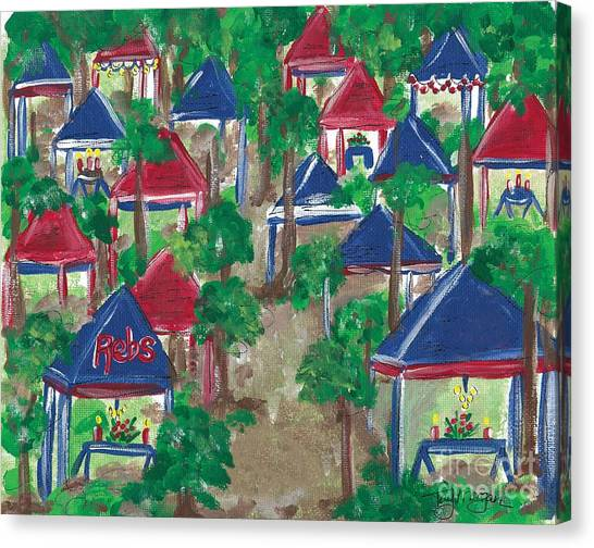 University Of Mississippi Ole Miss Canvas Print - Grove At Ole Miss by Tay Morgan