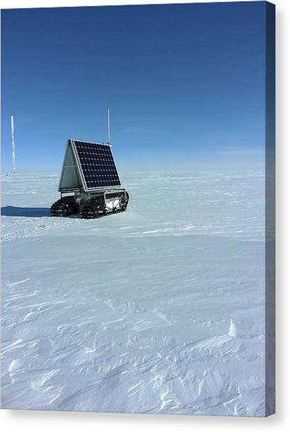 Harsh Conditions Canvas Print - Grover Rover Testing by Lora Koenig/nasa Goddard