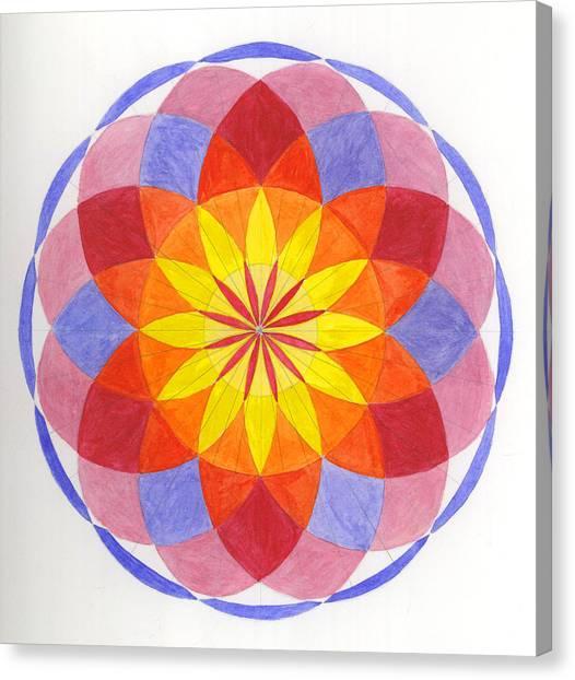 Growing Flower Canvas Print by Silvia Justo Fernandez