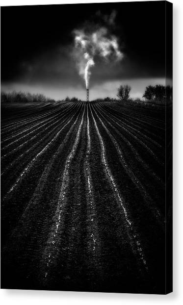 Global Warming Canvas Print - Growing Industry by Marc Apers