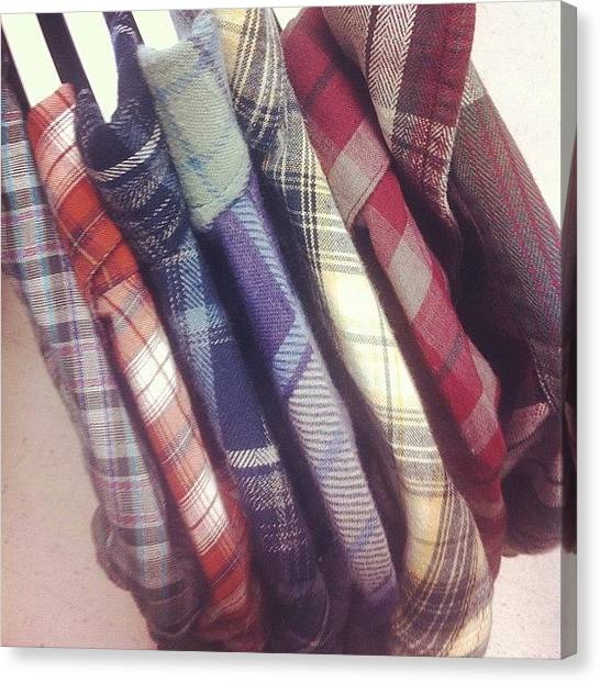 Flannel Canvas Print - Growing My Collection Of #flannel by Harrison Stone