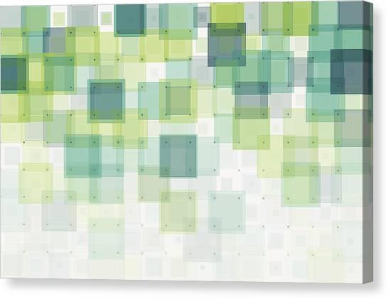 Growth Geometric Squares Pattern Canvas Print by FrankRamspott