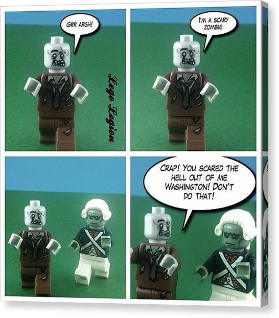 The Legion Canvas Print - Grr Argh!!! #legolegion #brickcentral by Lego Legion