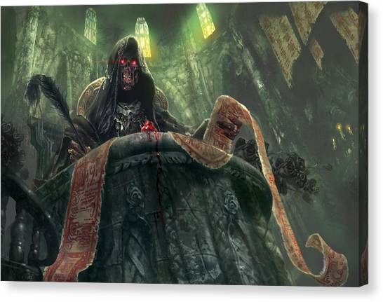 Keeper Canvas Print - Grudge Keeper by Ryan Barger