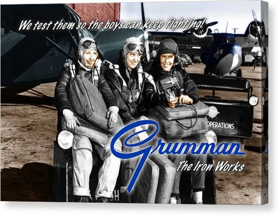 Grumman Test Pilots Canvas Print