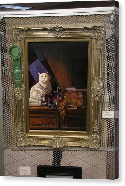 Grumpy Cat With Ribbon Canvas Print
