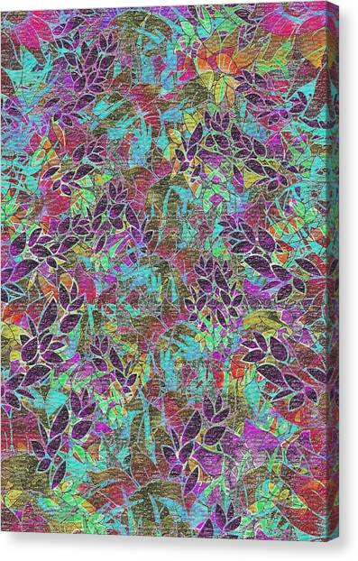 Grunge Art Floral Abstract Canvas Print by Medusa GraphicArt
