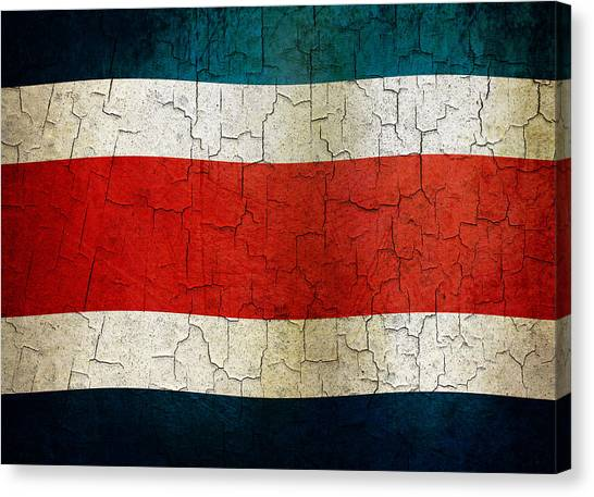 Grunge Costa Rica Flag Canvas Print