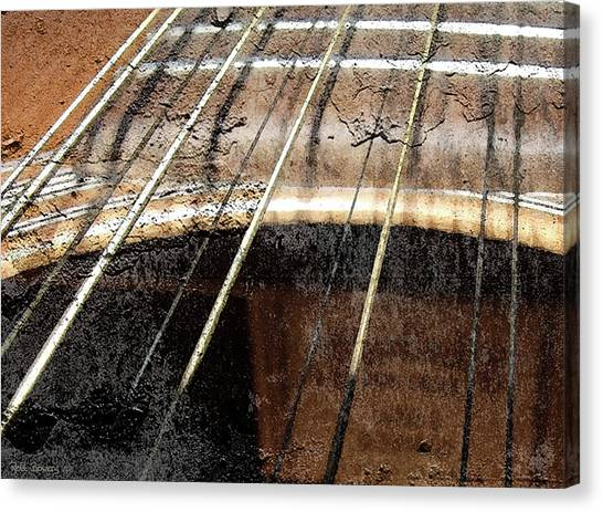 Grunge Guitar Canvas Print