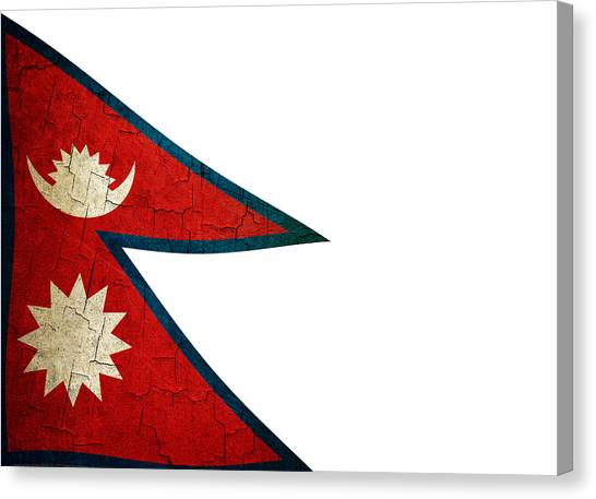 Grunge Nepal Flag Canvas Print