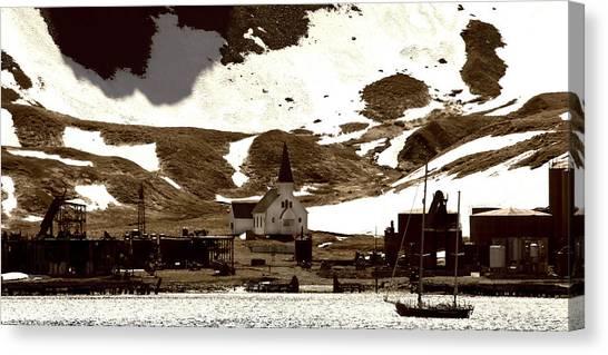 Antarctic Desert Canvas Print - Grytviken South Georgia by Amanda Stadther