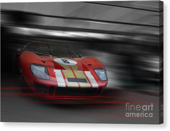 Gt40 Red Canvas Print by Roger Lighterness