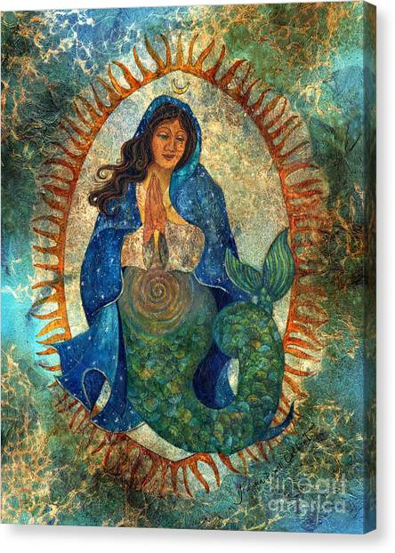 Guadalupe Mermaid Canvas Print by Joanna Powell Colbert
