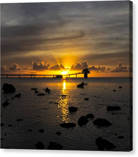 Ocean Sunsets Canvas Print - Guam Sunset by Brian Governale