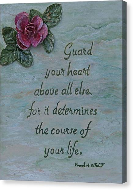 Guard Your Heart Canvas Print by Mary Grabill