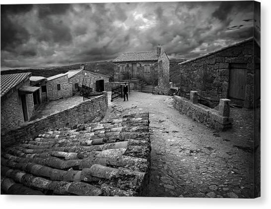 Old Man Canvas Print - Guarda - Portugal by Fernando Jorge Gon?alves