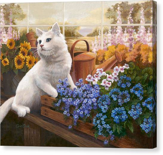 Guardian Of The Greenhouse Canvas Print