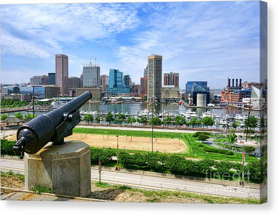Baltimore Maryland Canvas Print - Guarding Baltimore by Olivier Le Queinec