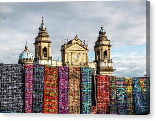Church Canvas Print - Guatemala City Cathedral by Francisco Mendoza Ruiz