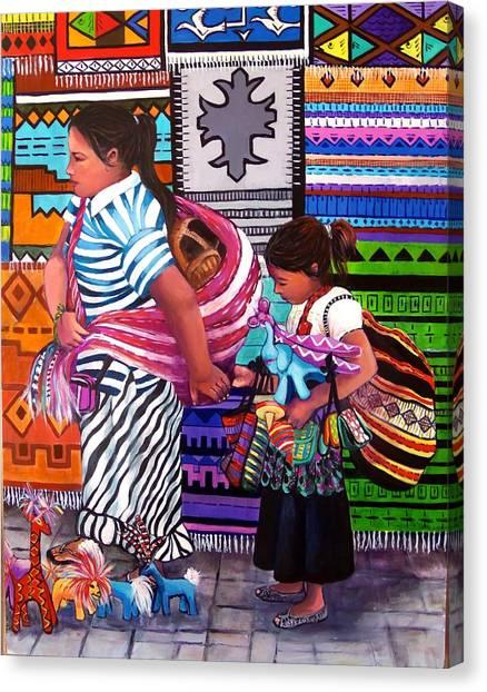 Guayabitos Mercado Canvas Print