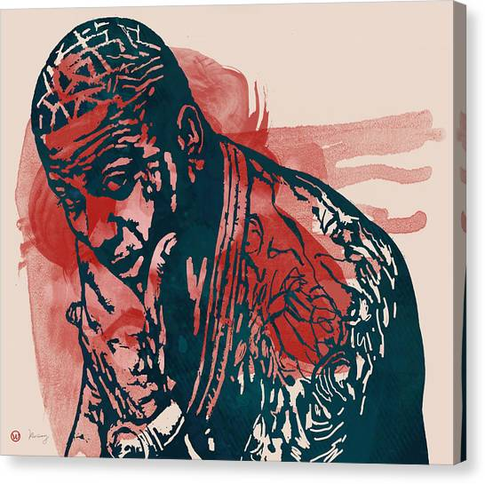 Independent Canvas Print - Gucci Mane - Pop Stylised Art Sketch Poster by Kim Wang