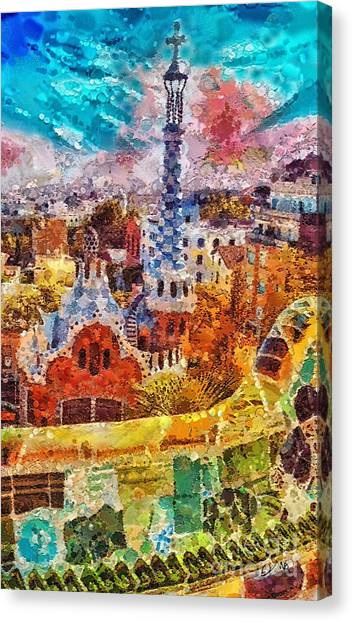 Guell Park Canvas Print