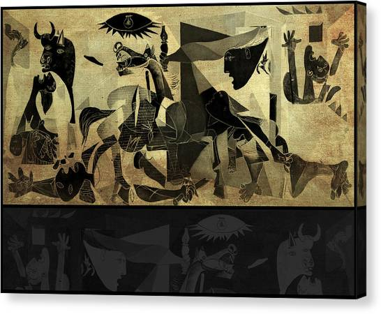 Pablo Picasso Canvas Print - Guernica 14 by Filippo B