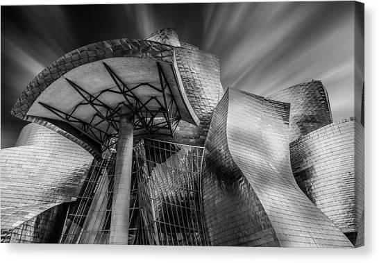 Metal Canvas Print - Guggenheim Bilbao (spain) by Martin Zalba
