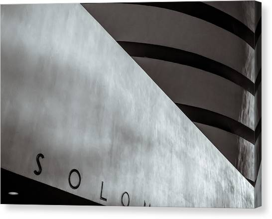 Canvas Print featuring the photograph Guggenheim In Abstract by Steve Stanger