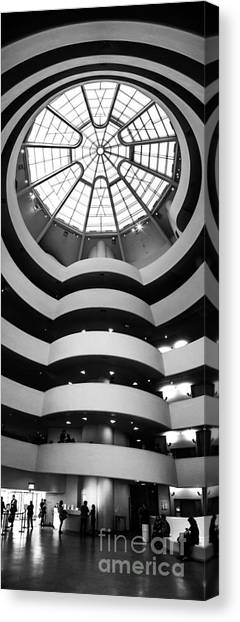 Symmetrical Canvas Print - Guggenheim Museum Ground Floor by Az Jackson
